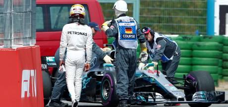 Hamilton valt uit in kwalificatie na problemen met versnellingsbak