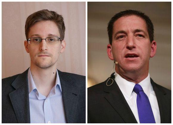 De Amerikaanse klokkenluider Edward Snowden en de voormalige Guardian-journalist Glenn Greenwald.