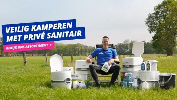 Bij Obelink in Winterswijk vliegen de draagbare toiletten de deur uit.