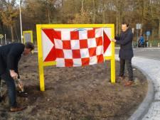 Rotonde Vijf Eikenweg geopend: speciale beplanting ter herdenking aan alle verkeersslachtoffers