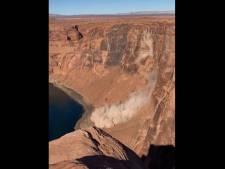 Un éboulement dans le Grand Canyon filmé par une randonneuse