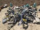 Een verzameling zelfmoord-explosieven zoals VN-militairen die in Irak veelal van de lichamen van gedode strijders moesten halen.