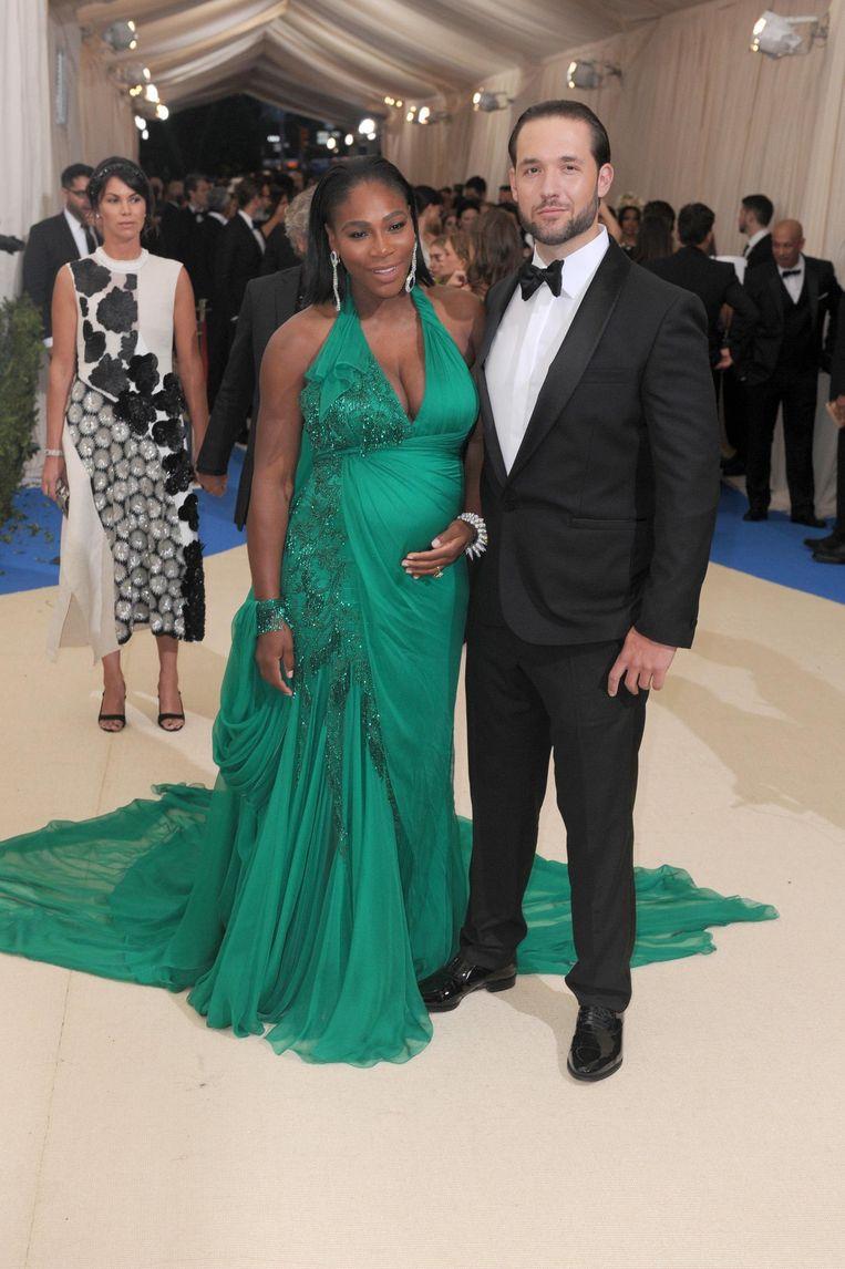 Williams met haar verloofde Alexis Ohanian.