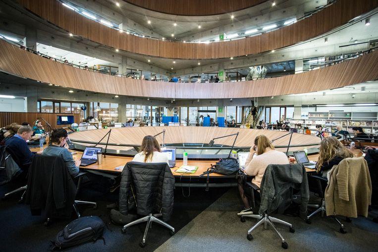 De bibliotheek van de Wageningse universiteit. Beeld ANP