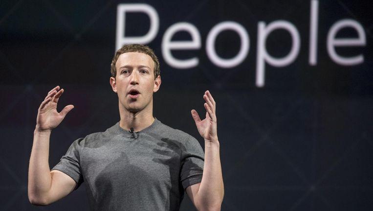 Facebook-topman Zuckerberg Beeld bloomberg