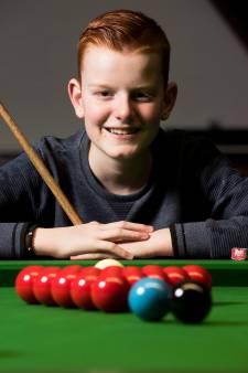 12-jarige snookeraar Hugo van Houten uit Montfoort uitgeschakeld op EK
