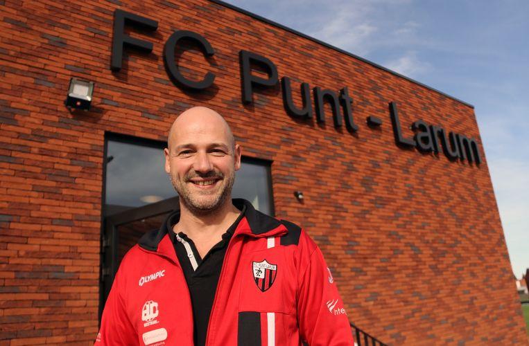 Bart Heylen van FC Punt Larum is een meer dan trotse voorzitter.