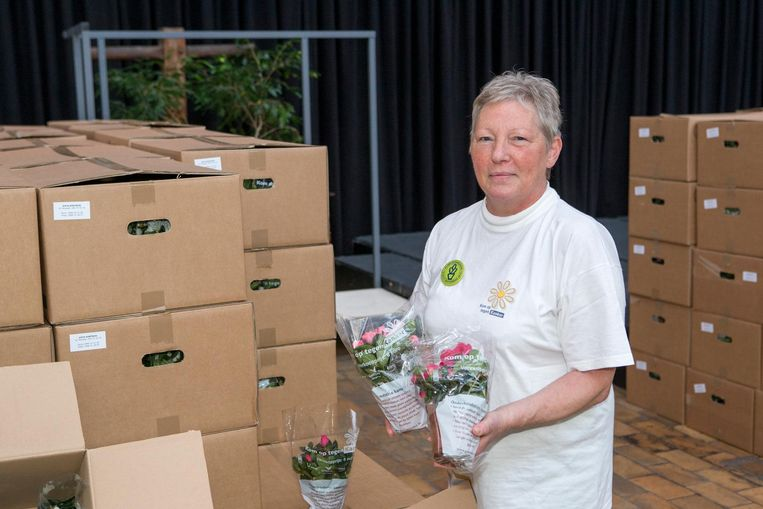 Doris Verlinde was de ongekroonde koningin van de azaleaverkoop voor Kom op tegen Kanker sinds 1994.
