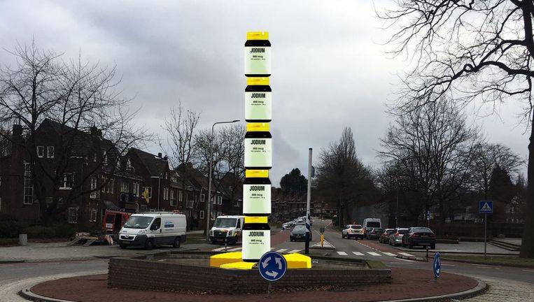Impressie van de jodiumpillentoren die in Heerlen komt. Beeld