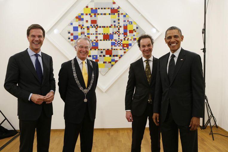 Obama op bezoek in 2014 Beeld anp
