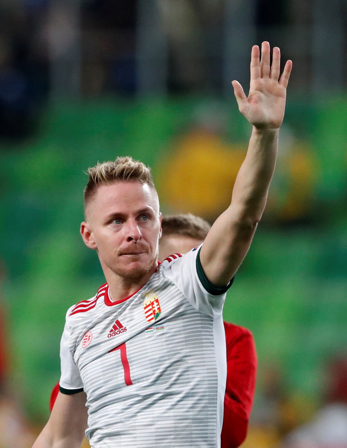 Oud-PSV'er Balasz Dszudszak is aanvoerder van Hongarije.