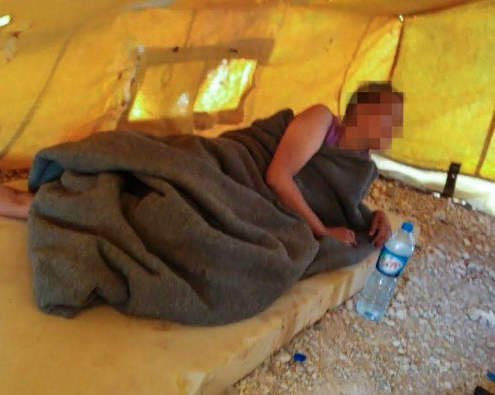 De Nederlandse Chadia die zich bij IS aansloot, in kamp Al-Hol in Syrië.