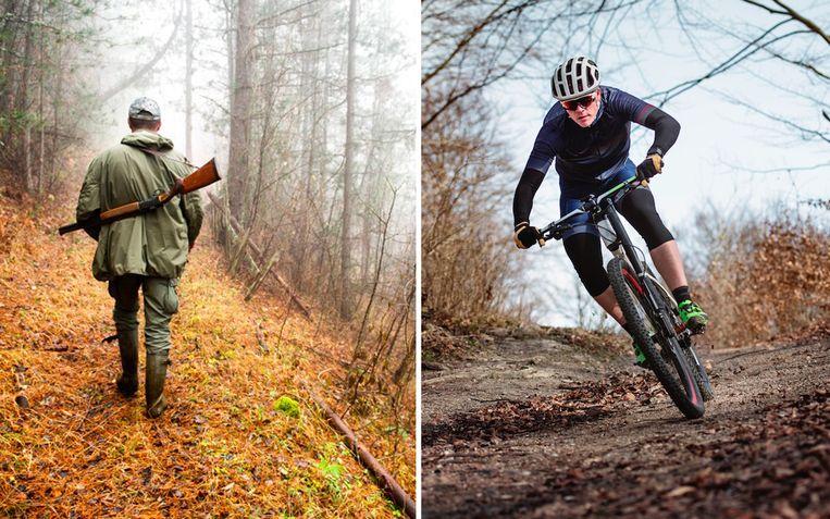 Een Franse politieker stelt voor om mountainbiken in het bos te verbieden tijdens de jacht, zo'n vier maanden per jaar.