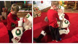 Hartverwarmend: mama legt moment vast waarop blind zoontje (6) voor het eerst de kerstman ontmoet
