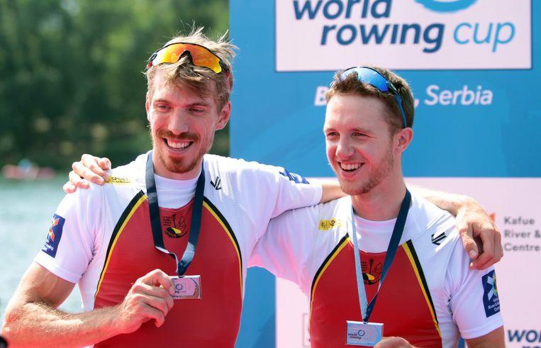 Brons op het WK roeien voor Tim Brys en Niels Van Zandweghe.