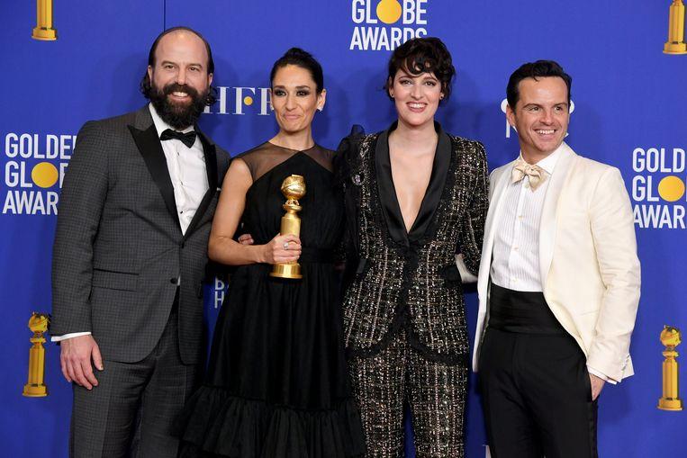 De cast van Fleabag met hun Golden Globe.