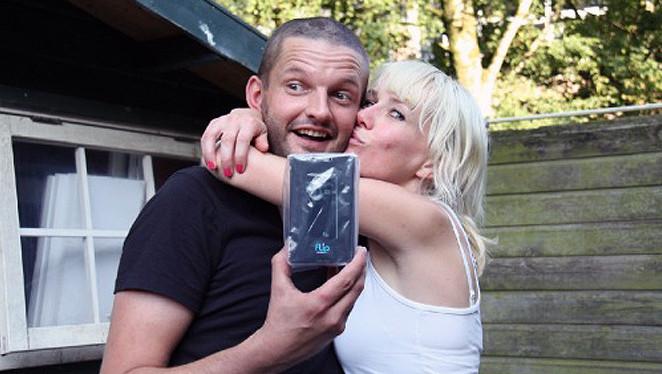 Lideweij Bosman met haar inmiddels overleden partner