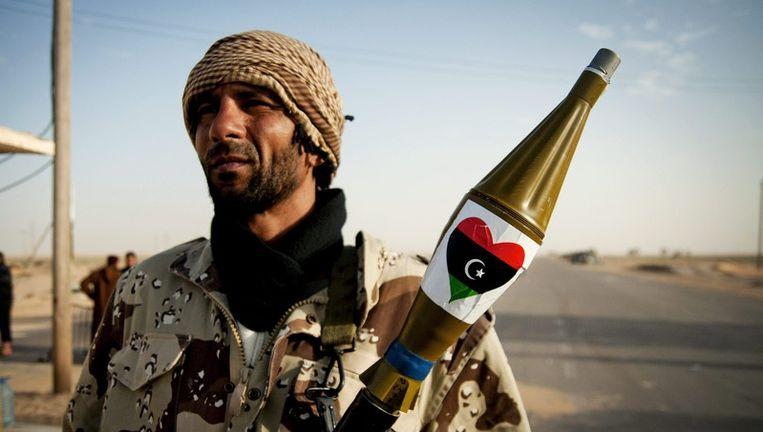 Een Libische opstandeling. Beeld epa