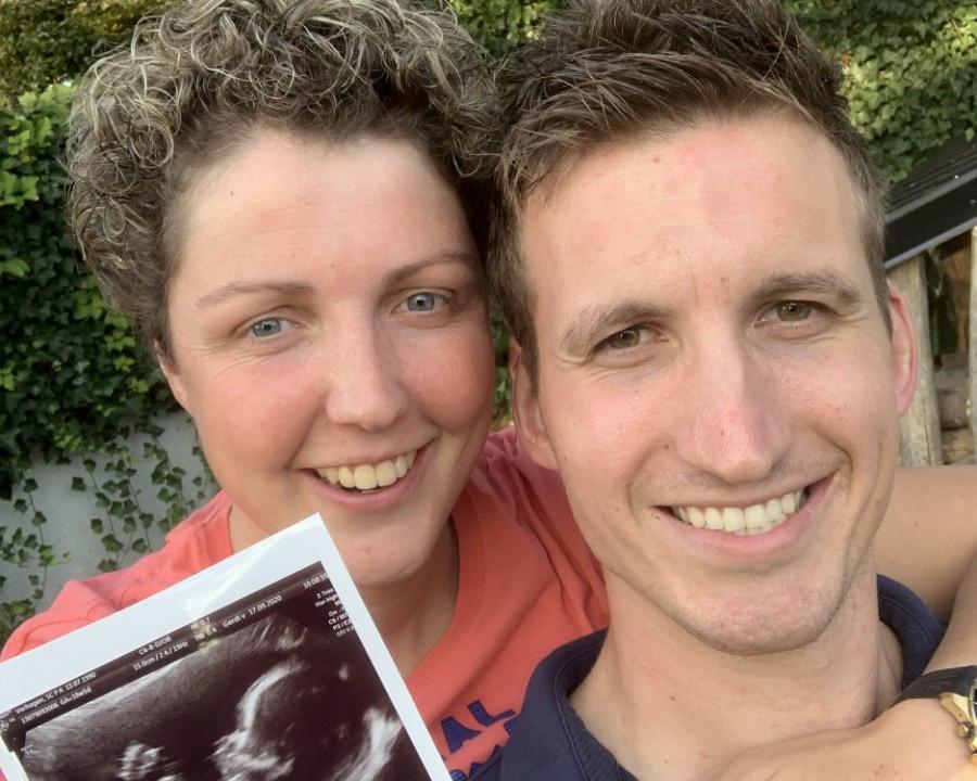 Steffi en Roel verwachten een meisje.