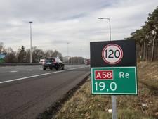 A58 twee weekenden dicht tussen Tilburg en Eindhoven