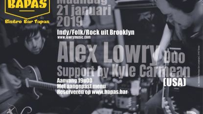 Alex Lowry geeft intiem concert in Bapas