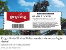 Efteling niet blij met 'gratis kaartjes op Facebook', gegevens mogelijk doorverkocht
