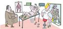 Seksvraag in nette massagesalons: we vroegen de Tilburgse illustrator Jeroen de Leijer om een tekening te maken bij dit verhaal.