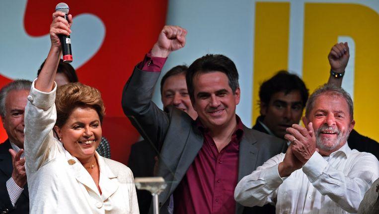 Dilma Rousseff zal Brazilië de komende jaren opnieuw gaan leiden. Beeld belga