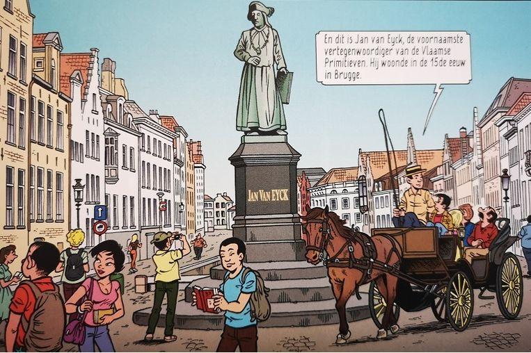 De familie Kiekeboe ontdekt het Jan van Eyckplein.