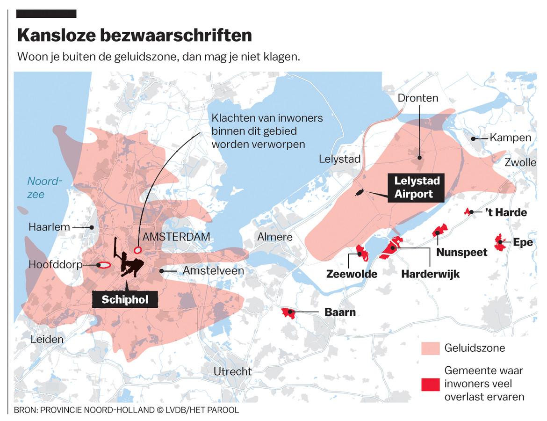 Buiten de geluidszone voor Lelystad Airport is het officieel niet mogelijk bezwaarschriften in te dienen.