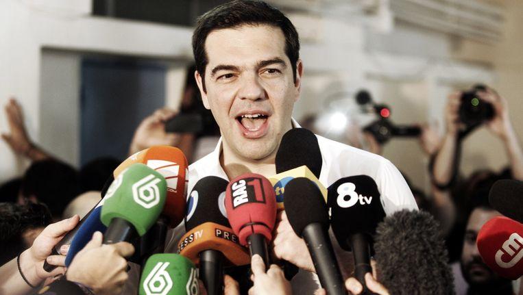 De Griekse premier Tsipras. Beeld getty