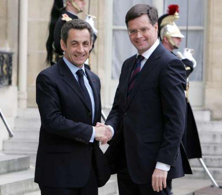 Nicolas Sarkozy en Jan Peter Balkenende.