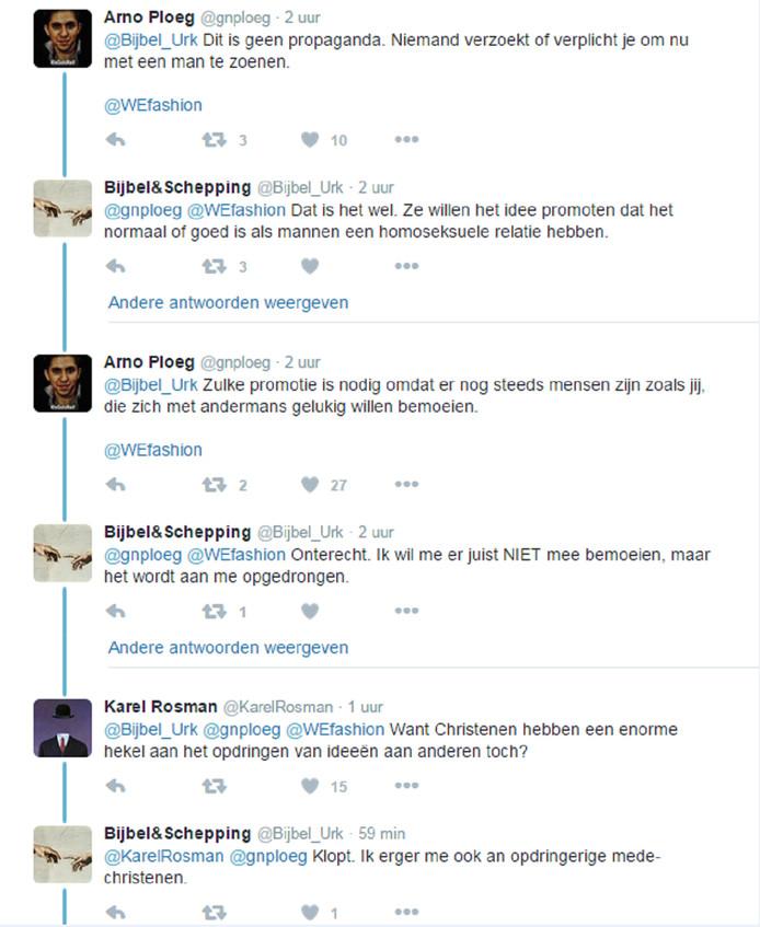 Reacties op de tweet.