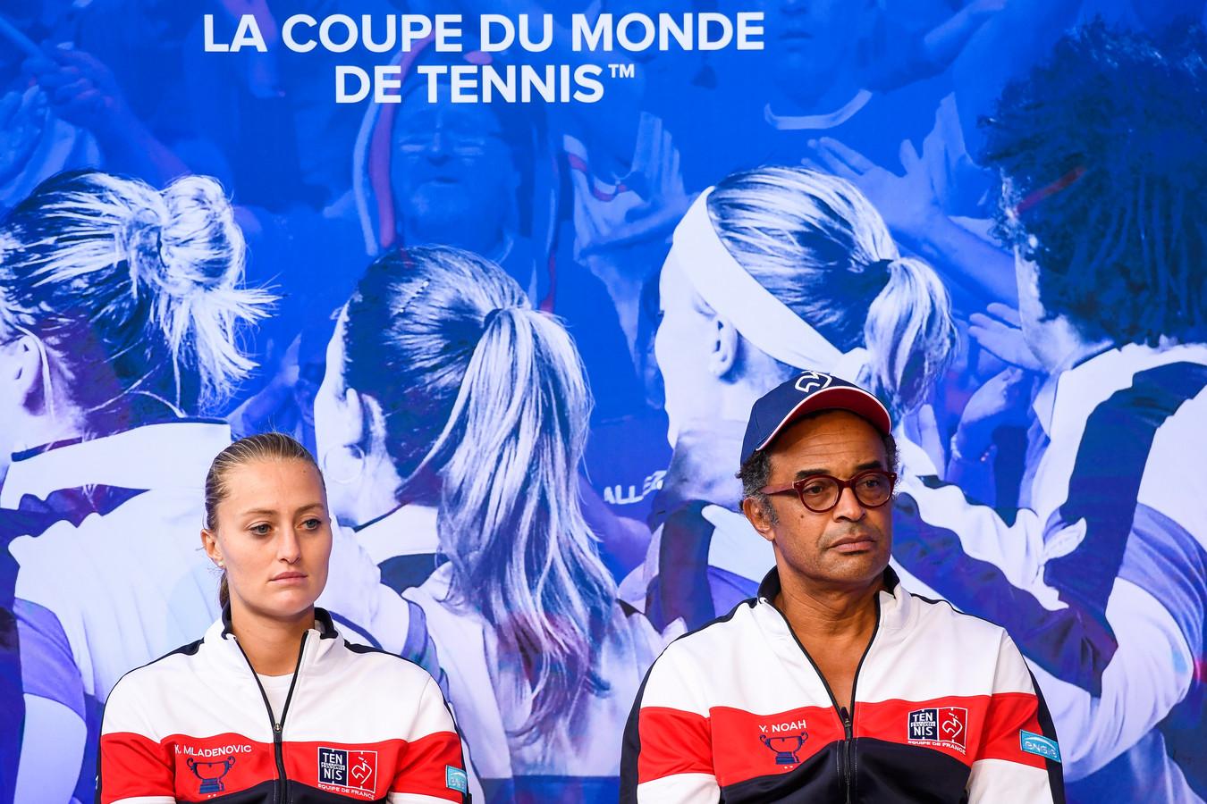Kristina Mladenovic en Yannick Noah.