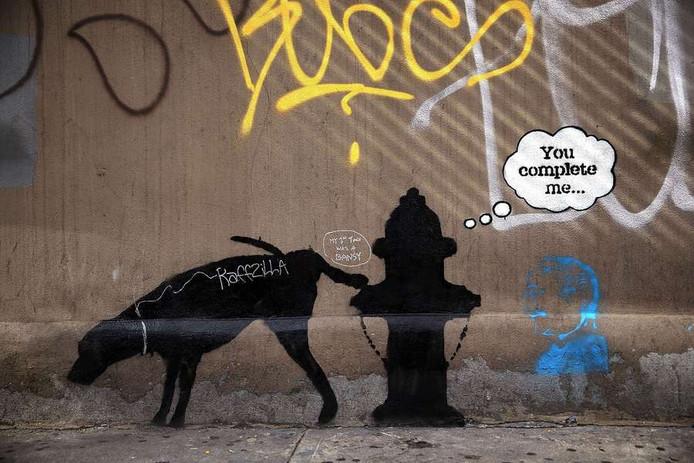 Een werk van Banksy in New York