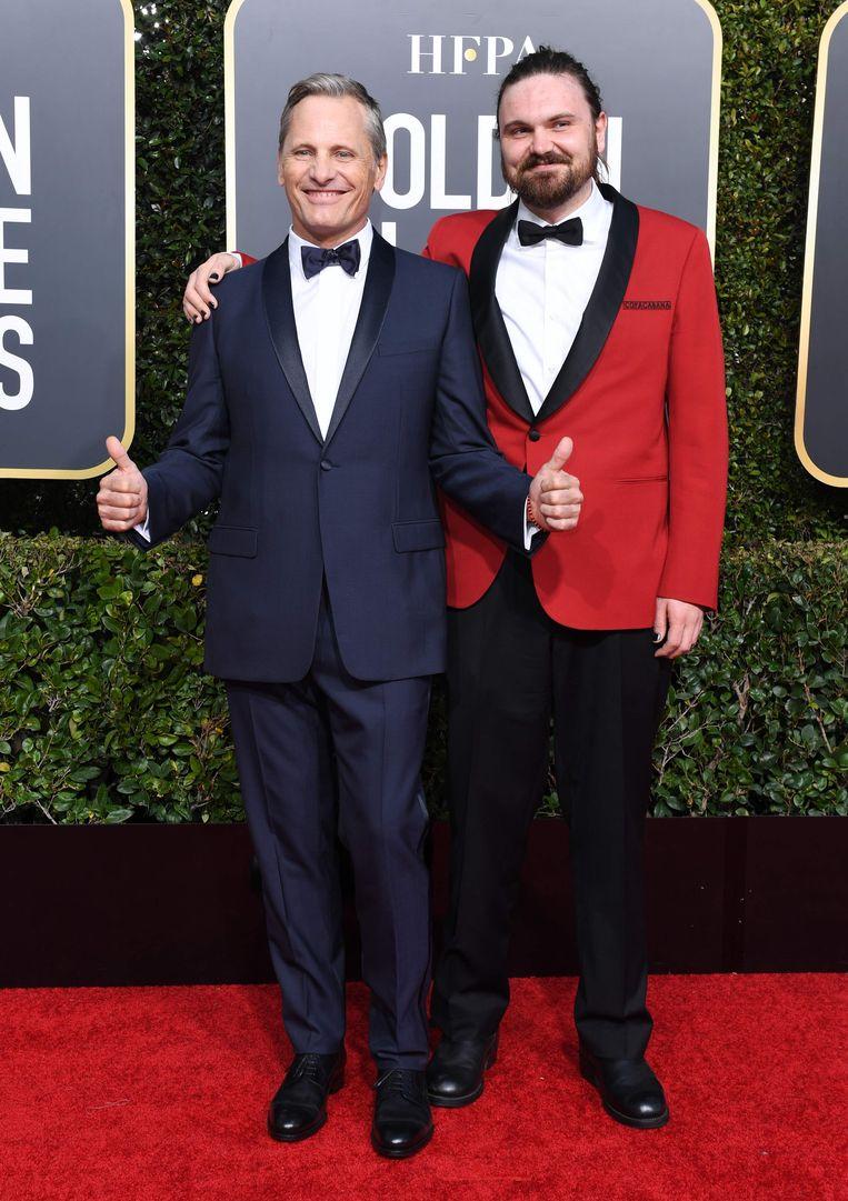 Viggo Mortensen, genomineerd voor 'Green Book' en zijn zoon Henry.