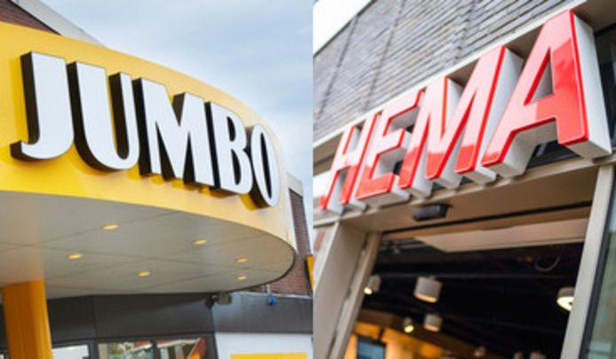 Vanaf vandaag zijn Hema-producten te koop in de Jumbo. De Foodmarkten in Breda en Tilburg hebben de primeur.