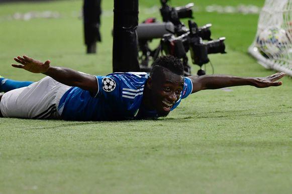 Blaise Matuidi door het dolle heen na de 0-2.