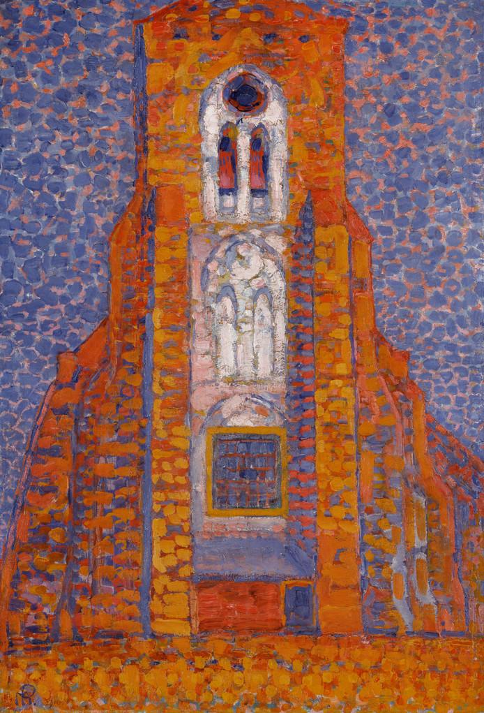 Piet Mondriaan: 'Zon, kerk in Zeeland'.