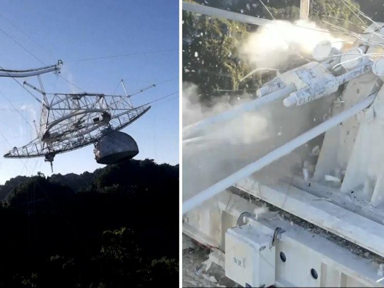 Gigantische telescoop ingestort in Puerto Rico