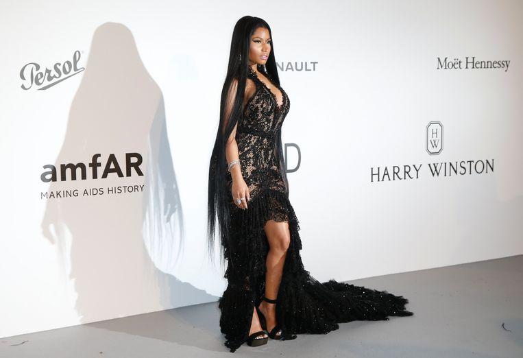 Nicki Minaj tijdens het Cinema Against AIDS amfAR gala 2018.