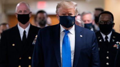 Trump draagt voor het eerst mondmasker in het openbaar - Nieuw dagrecord besmettingen in VS