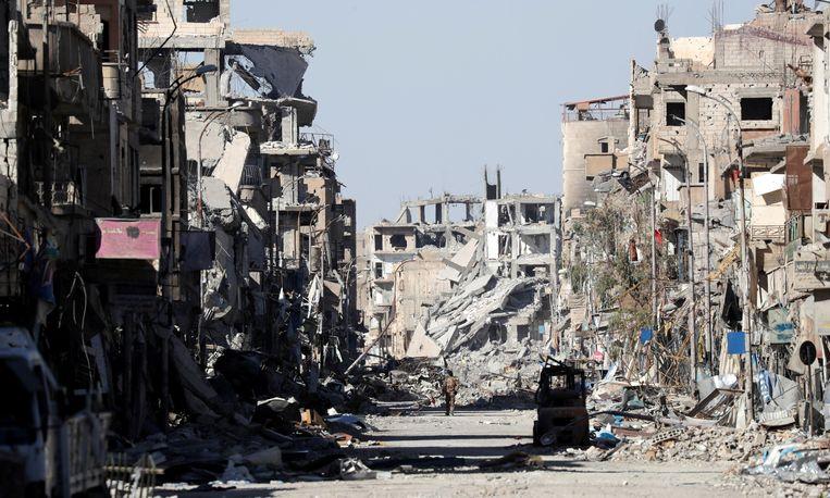 De Syrische stad Raqqa in 2017. Beeld Reuters