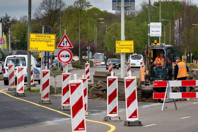 Kruising Aartshertogenlaan en Orthenseweg.