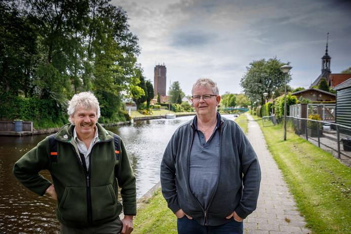 Harco Bergman en Bram Lageweg van het jubilerende KAS in Kuinre.