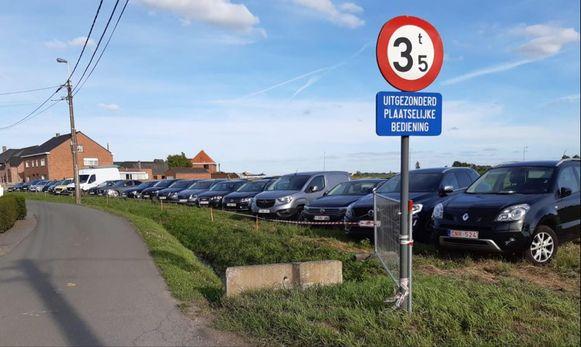 De extra parking van Soulbeach.