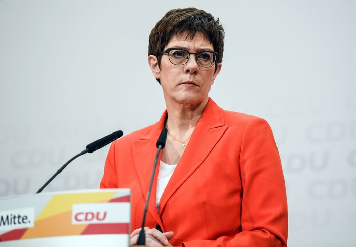 Annegret Kramp-Karrenbauer, Duitse minister van Defensie.