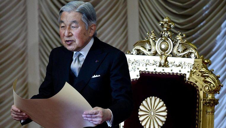 Keizer Akihito van Japan. Beeld anp