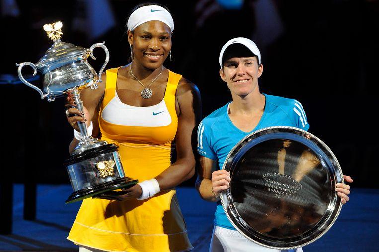 Williams versloeg Justine Henin in de finale van de Australian Open 2010.