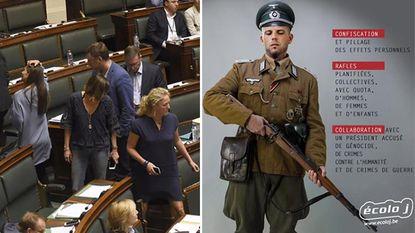 N-VA verlaat Kamer uit protest tegen foto Francken als nazisoldaat
